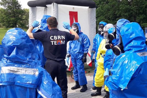 Chemical emergency response trainers developed skills to train other responders handling incidents involving chemical warfare agents and toxic industrial chemicals