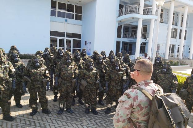 First responders during the Regional Basic Course on Assistance and Protection against Chemical Weapons