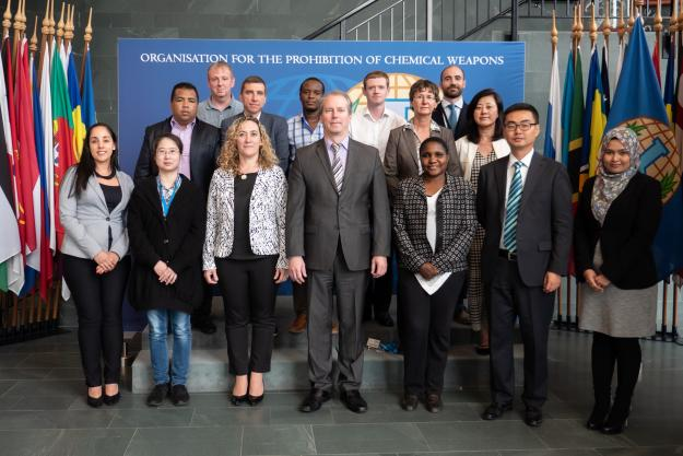 Participants at the inaugural course for analytical chemists supporting customs services