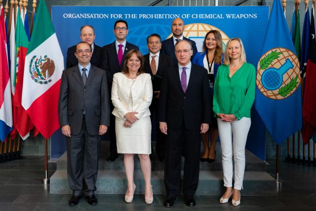 The Director-General of the Organisation for the Prohibition of Chemical Weapons (OPCW), H.E. Mr Fernando Arias, and the Undersecretary for Multilateral Affairs and Human Rights of the Mexican Ministry of Foreign Affairs, H.E. Ms Martha Delgado Peralta, met today at OPCW headquarters in The Hague.