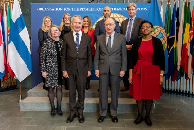 Minister of Foreign Affairs of Finland visited OPCW headquarters yesterday.