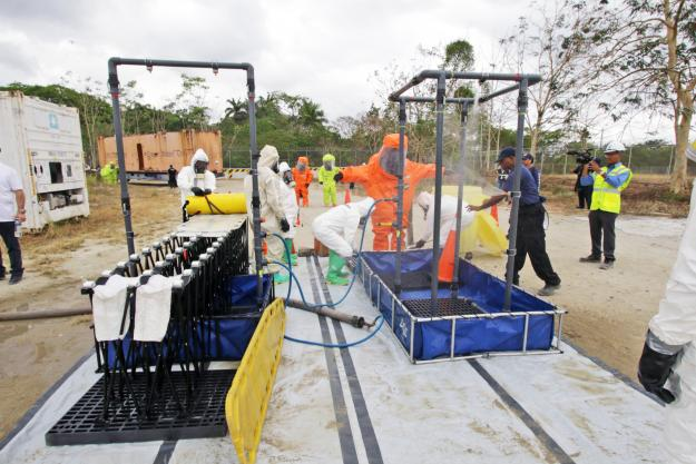 First Responders from Latin America and the Caribbean enhanced their capabilities in emergency response to chemical emergencies during a regional basic training course held in Panama City, Panama