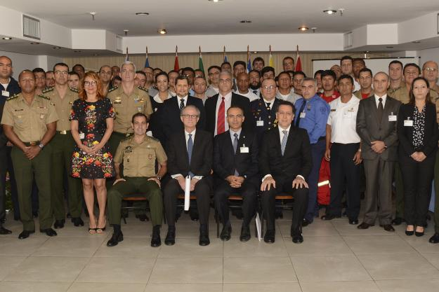 Participants at Assistance and Protection Exercise GRULAC Brazil 27-31 August 2018