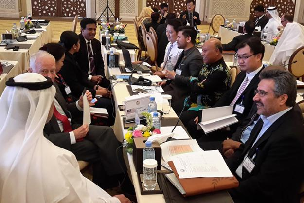Participants at a Seminar on Chemical Safety and Security Management for OPCW Member States, held in Doha, Qatar