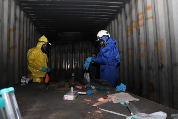 First responders at the First Regional Training Course in sampling and analysis in contaminated environments run by OPCW in Bogota, Colombia