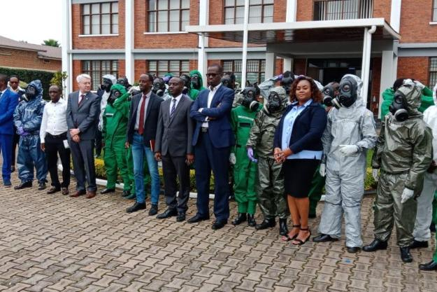 Rwanda's airport, border and police personnel participate in a National Basic Training Course on assistance and protection