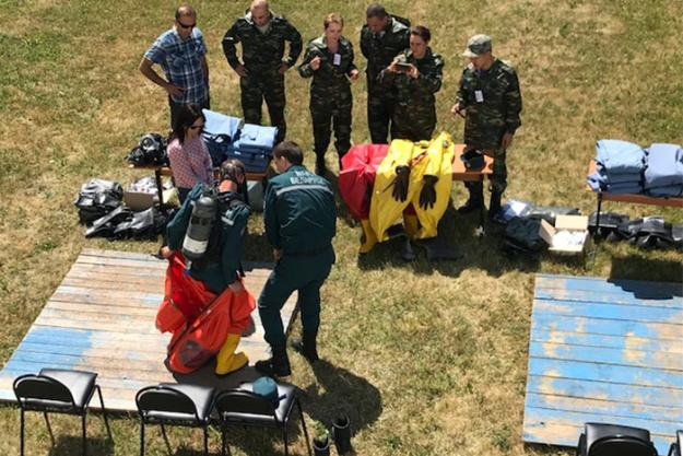 Medical professionals during an OPCW training at the International Rescuers Training Center (IRTC) of the University of Civil Protection in Svetlaya Roshcha, Belarus