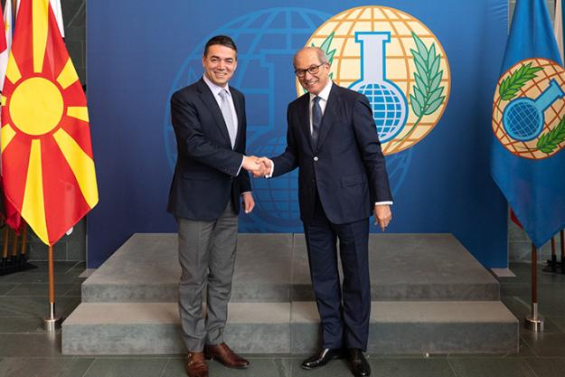 OPCW Director-General meets the Minister of Foreign Affairs of the Former Yugoslav Republic of Macedonia (FYROM)