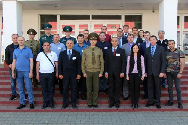 Participants of the OPCW training at the International Rescuers Training Center (IRTC) of the University of Civil Protection in Svetlaya Roshcha, Belarus