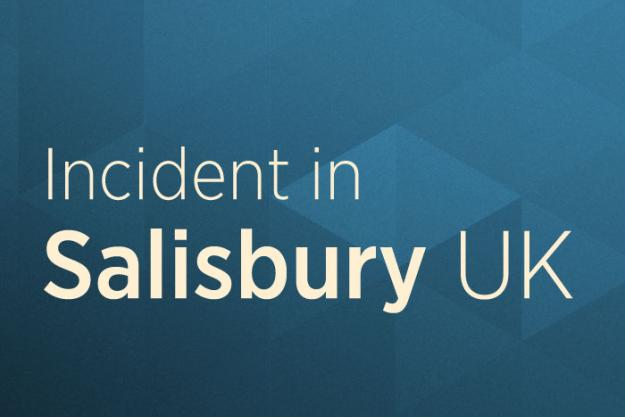 Incident in Salisbury UK