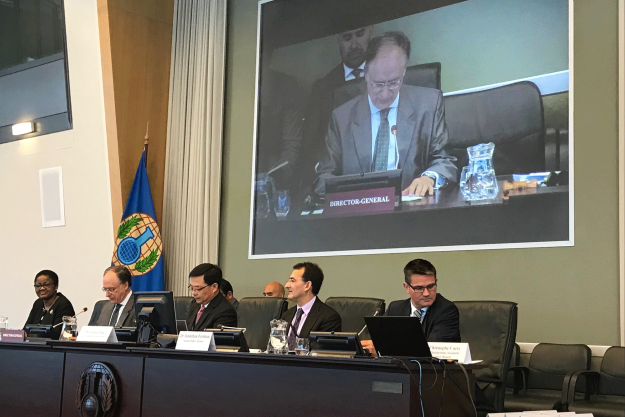 OPCW Director-General opening the Twenty-Eighth Session meeting of the SAB