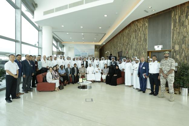 Participants during a training on ports and maritime chemical safety and security management, in Doha