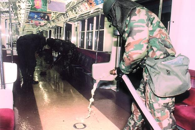 In Japan, the Aum Shinrikyo cult released the chemical agent sarin in a terrorist attack on the Tokyo subway. About five thousand people became sick and a dozen were killed.