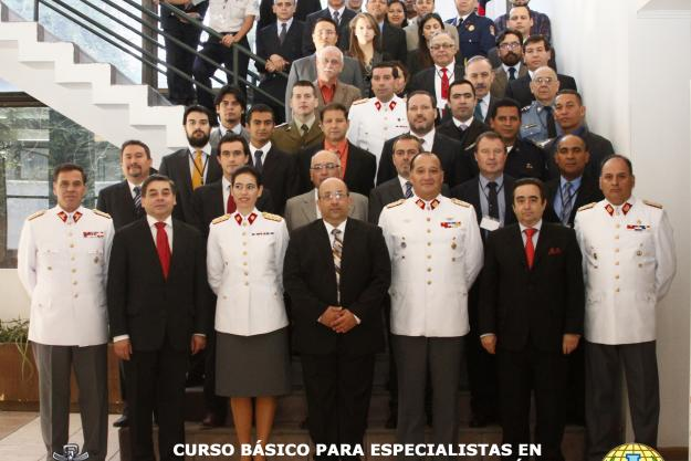 Participants at a basic course for specialists on responding to chemical warfare agents and toxic industrial chemicals (TICs), which was jointly organized with the OPCW and the National Authority of Chile.