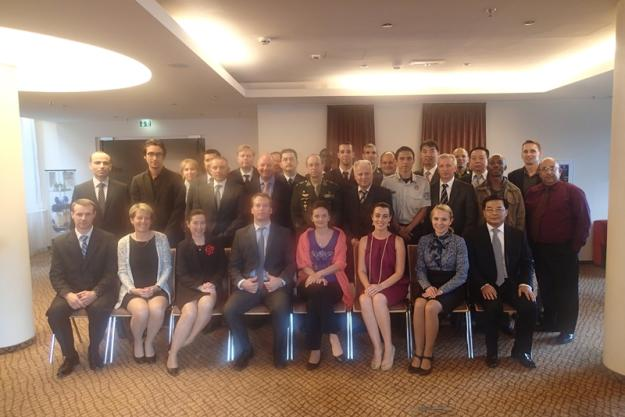 Participants at the Second Meeting of Training Centres for Assistance and Protection Under Article X of the Chemical Weapons Convention, which was held in Bratislava, Slovakia in September 2014.