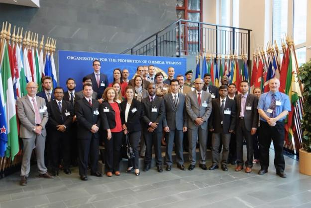 Participants at the International Training for National Authorities in Receiving CWC Inspections, which was held in The Hague from 9 to 12 September 2014.
