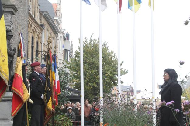 Deputy Director-General Grace Asirwatham at the 2014 Remembrance Armistice Day in Ieper, Belgium on Tuesday 11 November.