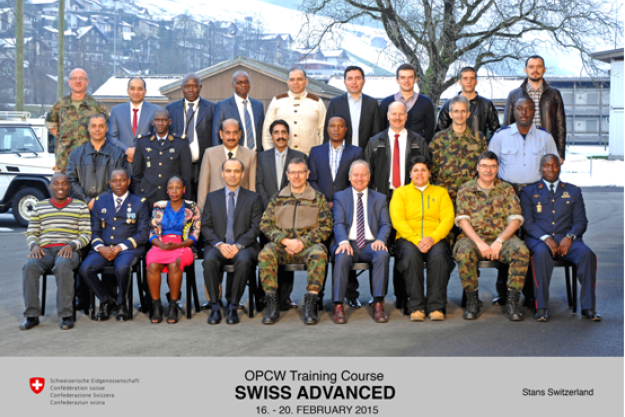 Participants at the Fourth Swiss Advanced Course in Protection against Chemical Weapons.