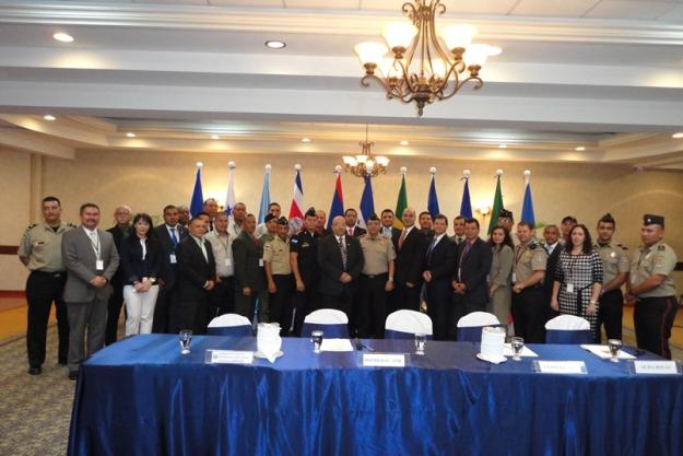Participants at the Sub Regional Table Top Exercise in Chemical Emergency Response for States Parties from Central America and Mexico held in Tegucigalpa, Honduras.