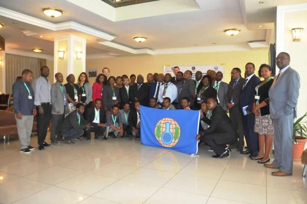 Participants at the Subregional Training Course for Customs Officials from East and Southern African States Parties on the Technical Aspects of the Transfers Regime of the Chemical Weapons Convention, which was held in Ethiopia from 1 to 4 March 2016.
