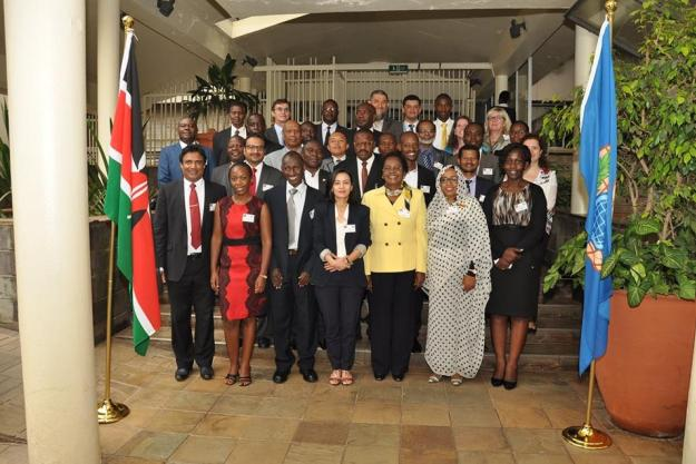 Participants at a workshop on industrial chemical safety and security practices conducted by the Organisation for the Prohibition of Chemical Weapons (OPCW) in Nairobi, Kenya 5-7 September 2016.