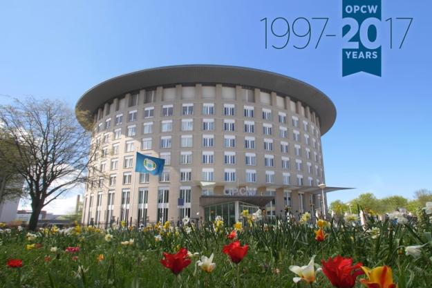 OPCW Headquarters. The OPCW will celebrate its 20th Anniversary this April.