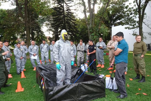 Police first responders from Latin America and the Caribbean attending the first-ever OPCW advanced regional training