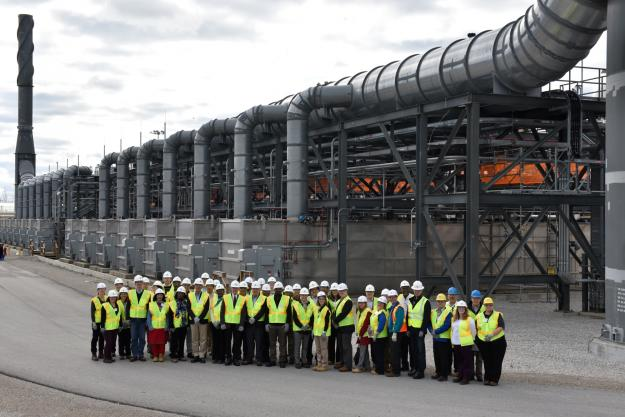 A delegation from the OPCW's Executive Council at the Blue Grass Chemical Weapons Destruction Facility (CWDF) in Kentucky
