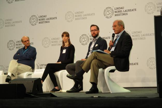 The Director-General of the OPCW taking part in a panel discussion at the Lindau Nobel Laureate Meeting