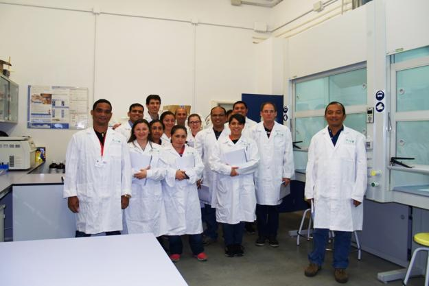 Analytical chemists from Latin America, the Caribbean and Spain during a OPCW and LAVEMA course