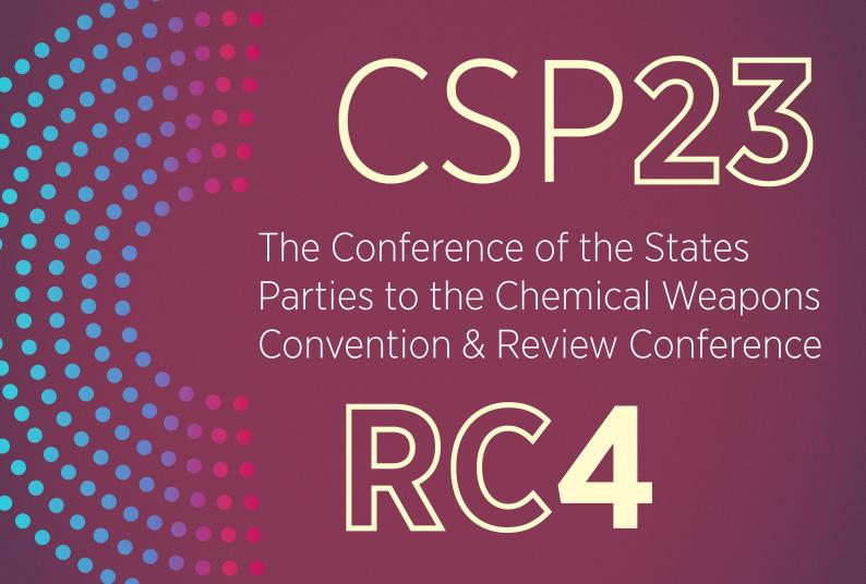 The Conference of the States Parties to the Chemical Weapons Convention & Review Conference