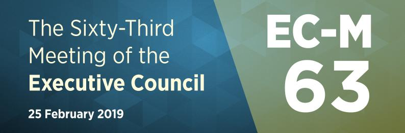 The Sixty-Third Meeting of the Executive Council