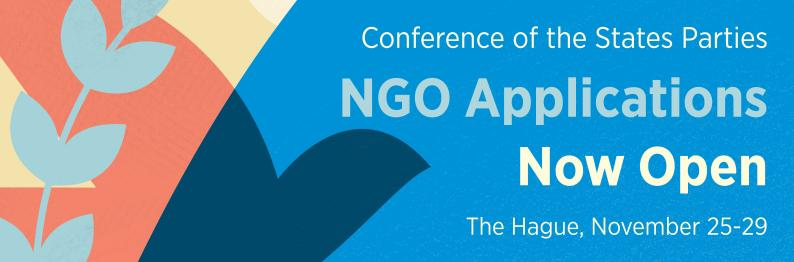 Conference of the States Parties - NGO Applications Now Open