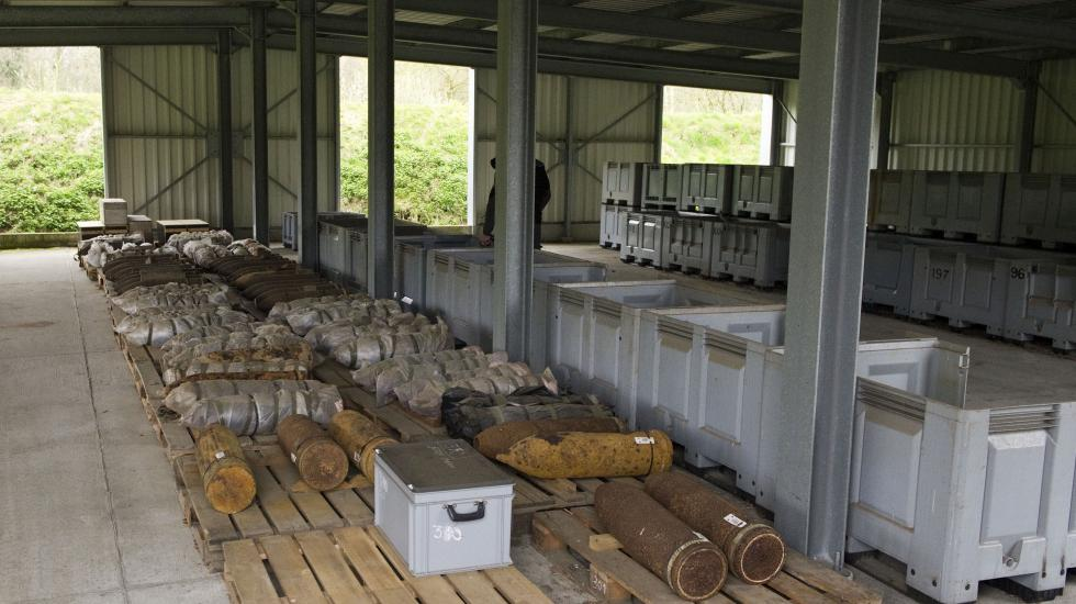 Old chemical weapons at a storage facility