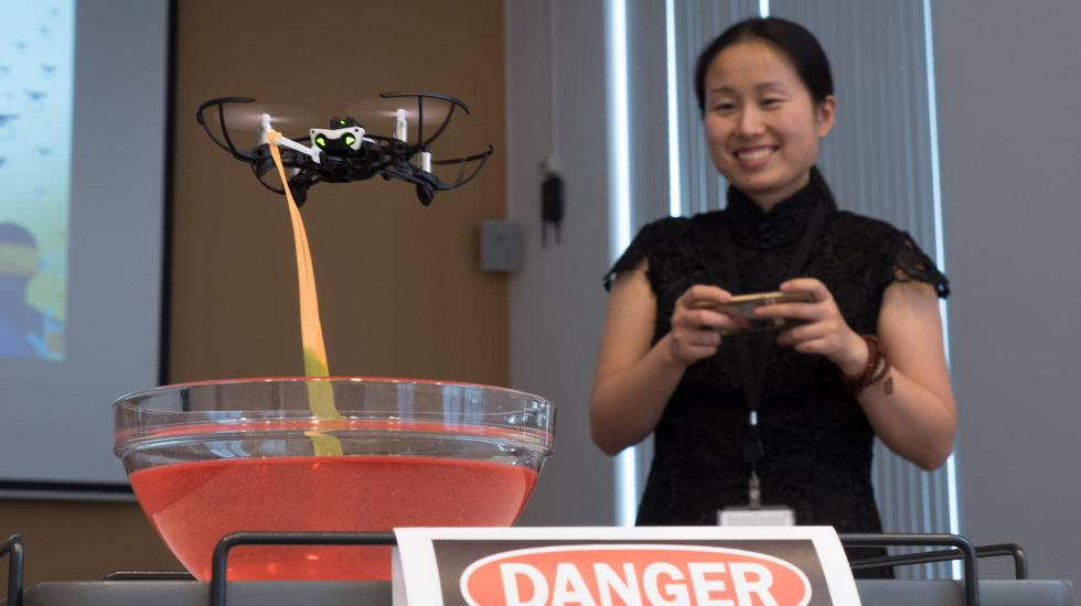 An OPCW Intern presentation on collecting chemical samples with drones