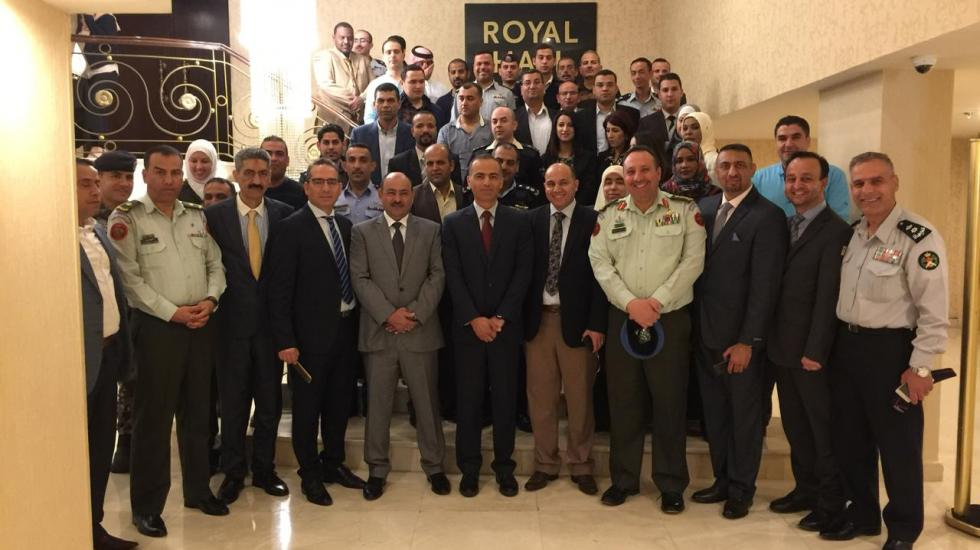 Participants at an Advanced and Exercise training course on Assistance and Protection against Chemical Weapons