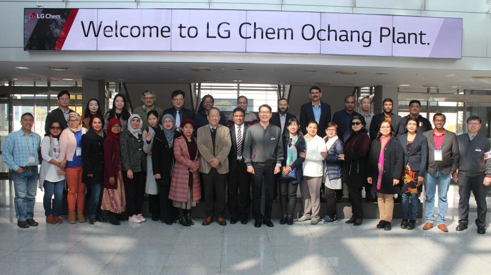 Visit to the LG chemicals Ochang Facility to learn about chemical management