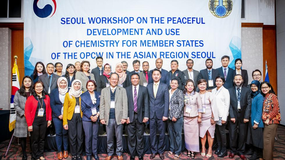 Participants at the peaceful development and use of chemistry, Seoul, Republic of Korea