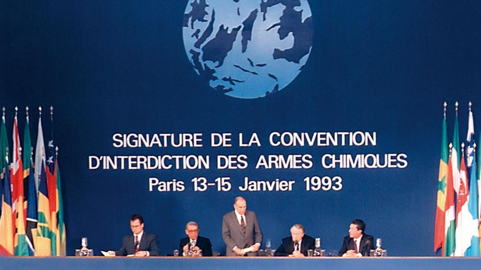 Chemical Weapons Convention signing in Paris