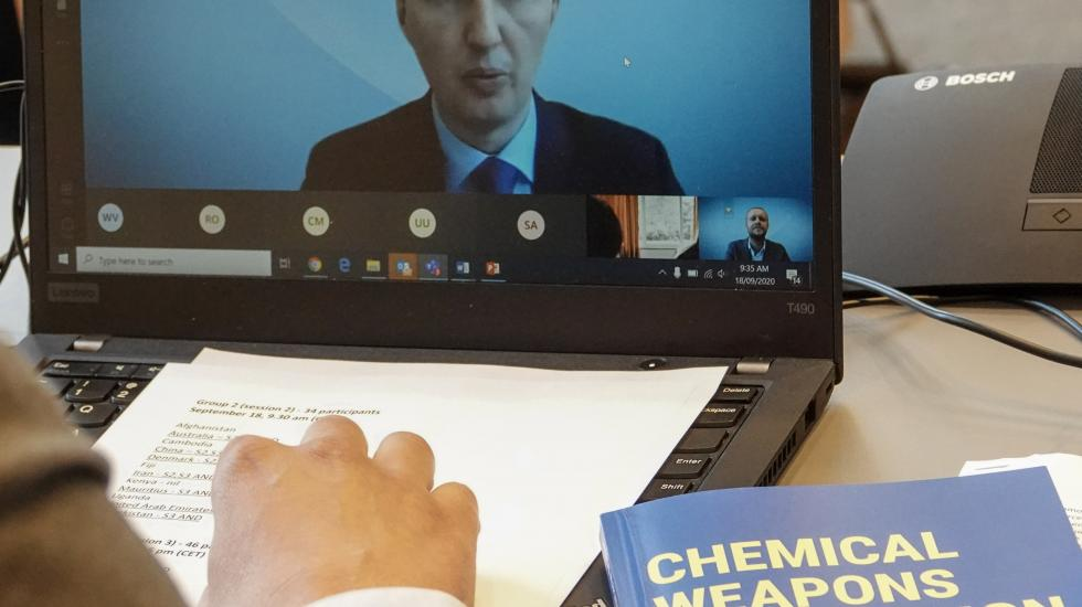 online training course on the enforcement of the Chemical Weapons Convention's (CWC) scheduled chemicals transfer regime
