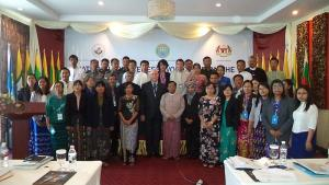 Participants at a three-day National Awareness Workshop and two-day mock industry inspection activity, which was held in Nay Pyi Taw and Yangon, Myanmar