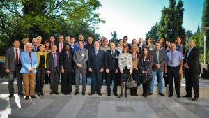 Participants at the regional training course on technical aspects of the CWC transfers regime held in Montenegro