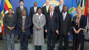 Delegation from the Parliament of Uganda with the Director-General and senior OPCW officials.