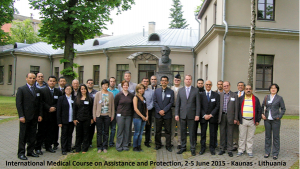 Participants at a Course on Medical Aspects of Assistance and Protection against Chemical Weapons held in Lithuania.