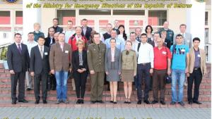 Participants at a Training for Russian-speaking First Responders to Incidents of Chemical Contamination held in Belarus.