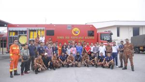 Participants at the First Assistance and Protection Training Course for Police First Responders held in Malaysia