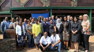 Participants at a Subregional Training Course for Customs Officials from East and Southern African States Parties on the Technical Aspects of the Transfers Regime held in South Africa