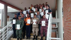 Participants at the Third Regional Assistance and Protection Full Training Cycle for GRULAC States Parties, which was held in Colombia from 4 to 8 April 2016.