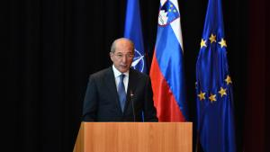 OPCW Director-General Ahmet Üzümcü addresses the NATO Conference on Weapons of Mass Destruction (WMD) Arms Control, Disarmament and Non-Proliferation on 9 May 2016.