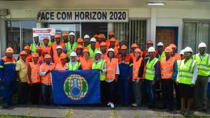 Chemical specialists at a regional chemical safety and security management workshop in Yaoundé, Republic of Cameroon.